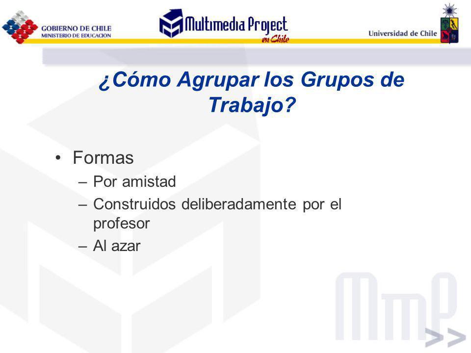 ¿Cómo Agrupar los Grupos de Trabajo