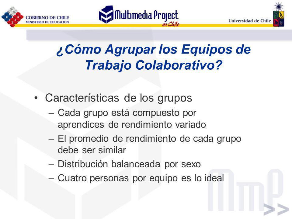 ¿Cómo Agrupar los Equipos de Trabajo Colaborativo