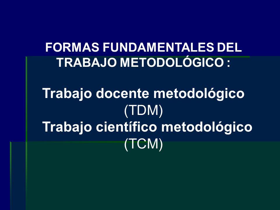 FORMAS FUNDAMENTALES DEL TRABAJO METODOLÓGICO :