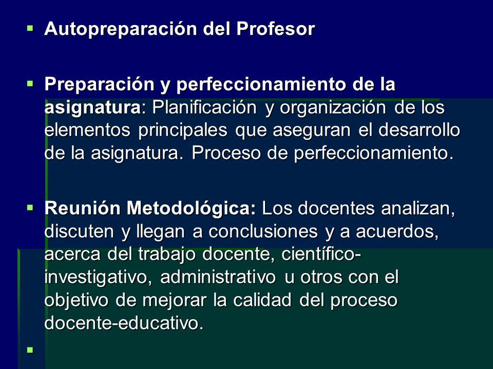 Autopreparación del Profesor