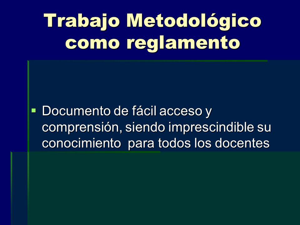 Trabajo Metodológico como reglamento