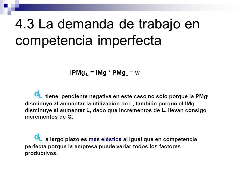 4.3 La demanda de trabajo en competencia imperfecta