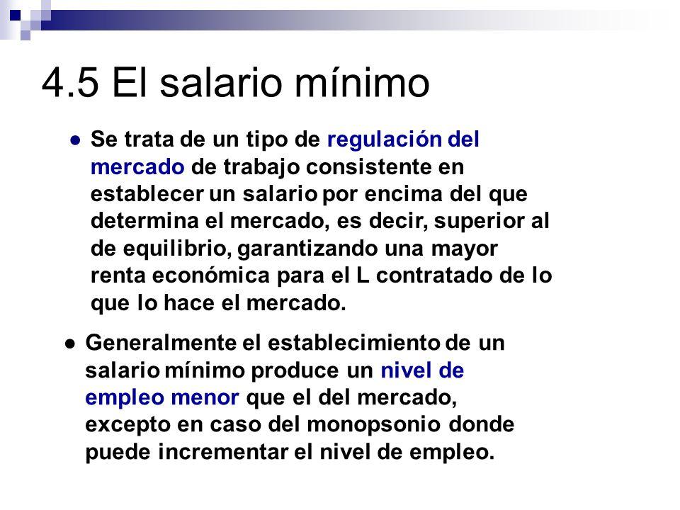 4.5 El salario mínimo