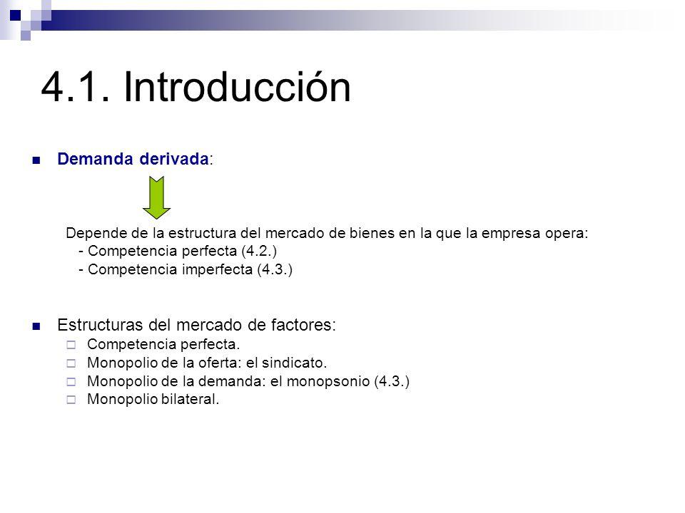 4.1. Introducción Demanda derivada:
