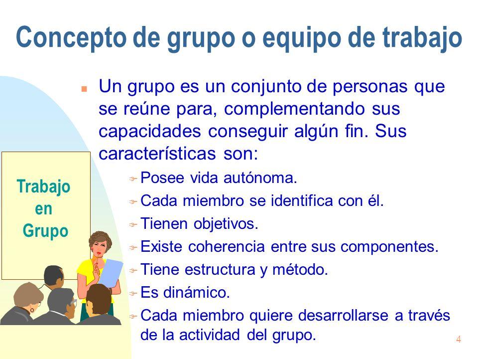 Concepto de grupo o equipo de trabajo