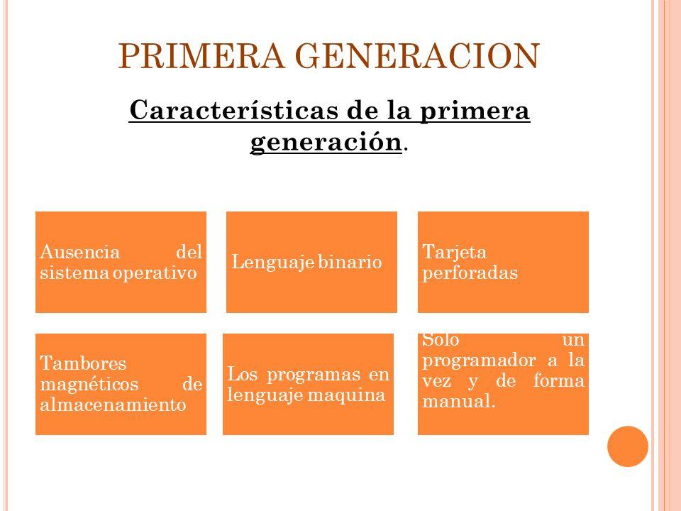 Características de la primera generación.