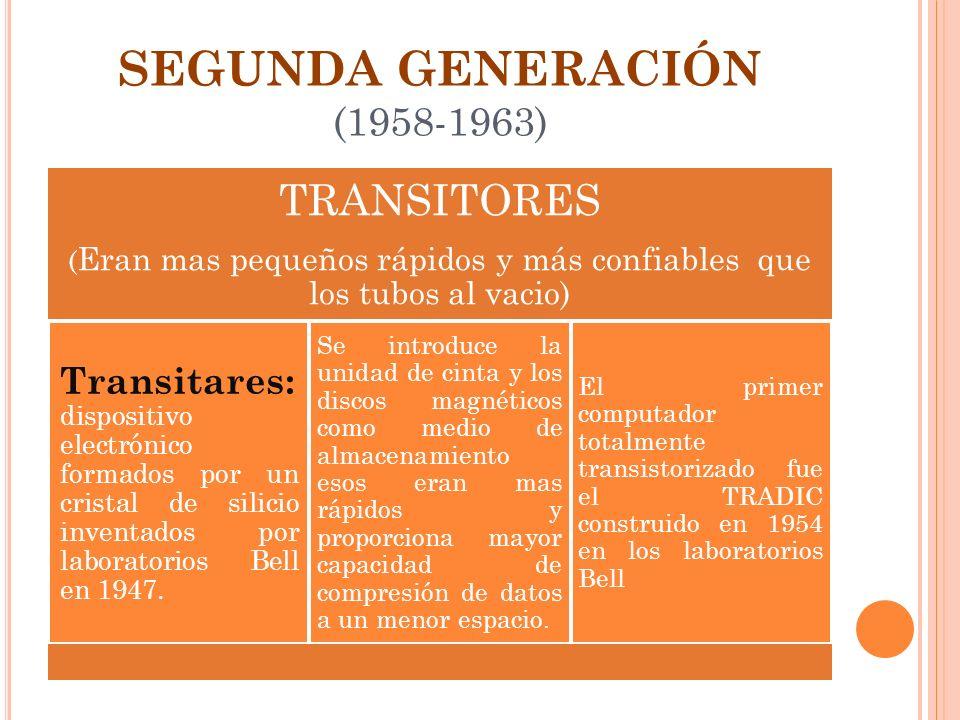 SEGUNDA GENERACIÓN (1958-1963)