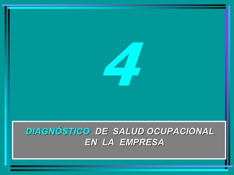 DIAGNÓSTICO DE SALUD OCUPACIONAL EN LA EMPRESA