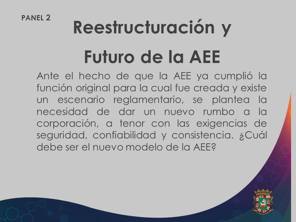 Reestructuración y Futuro de la AEE