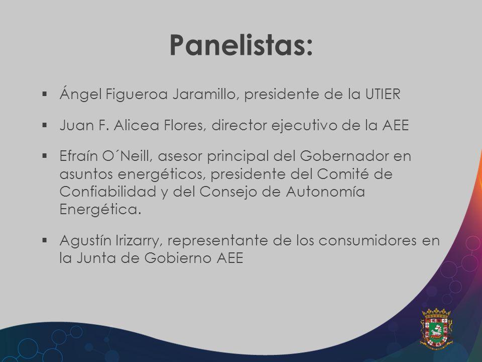 Panelistas: Ángel Figueroa Jaramillo, presidente de la UTIER