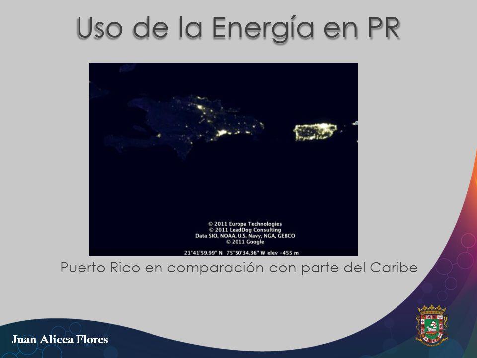 Puerto Rico en comparación con parte del Caribe