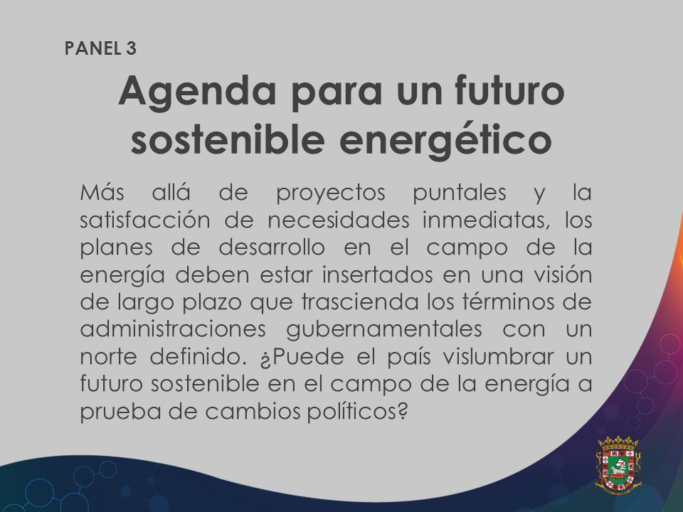Agenda para un futuro sostenible energético