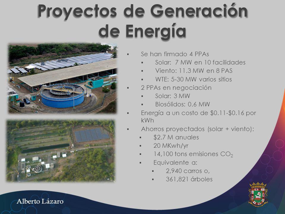 Proyectos de Generación de Energía
