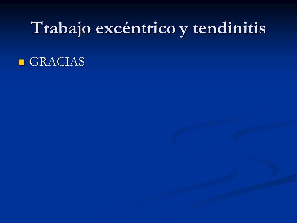Trabajo excéntrico y tendinitis