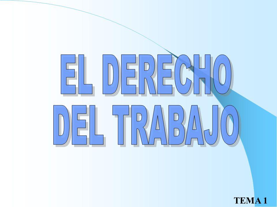 EL DERECHO DEL TRABAJO