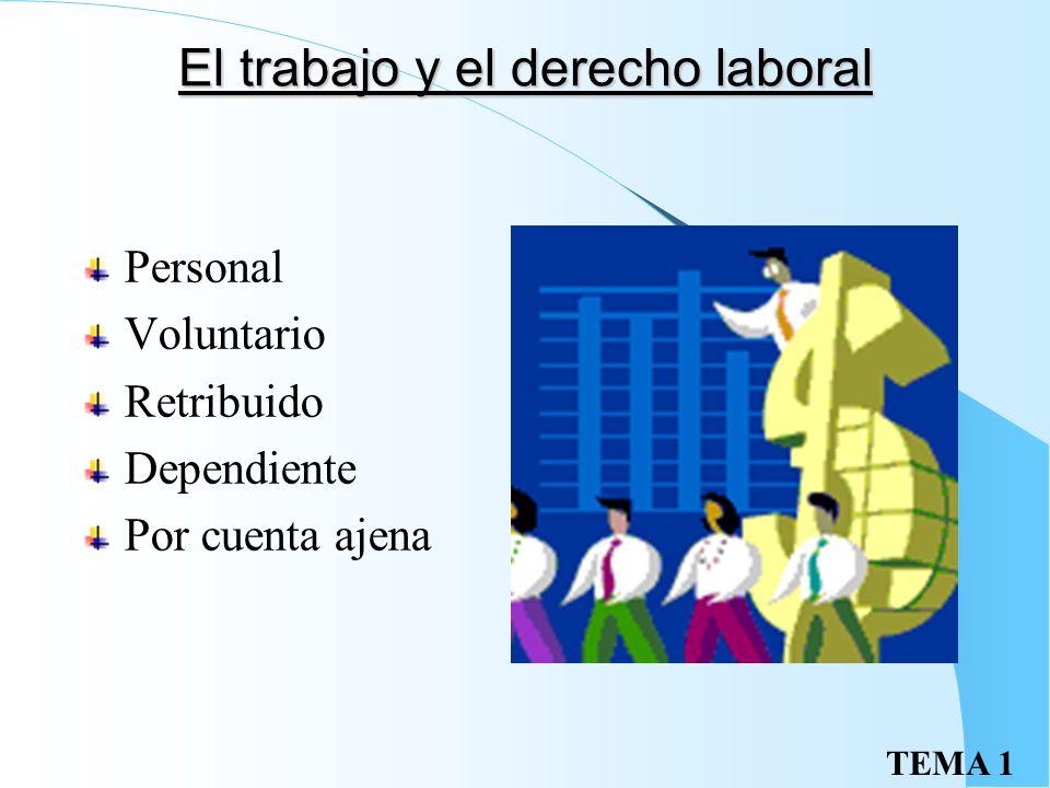 El trabajo y el derecho laboral