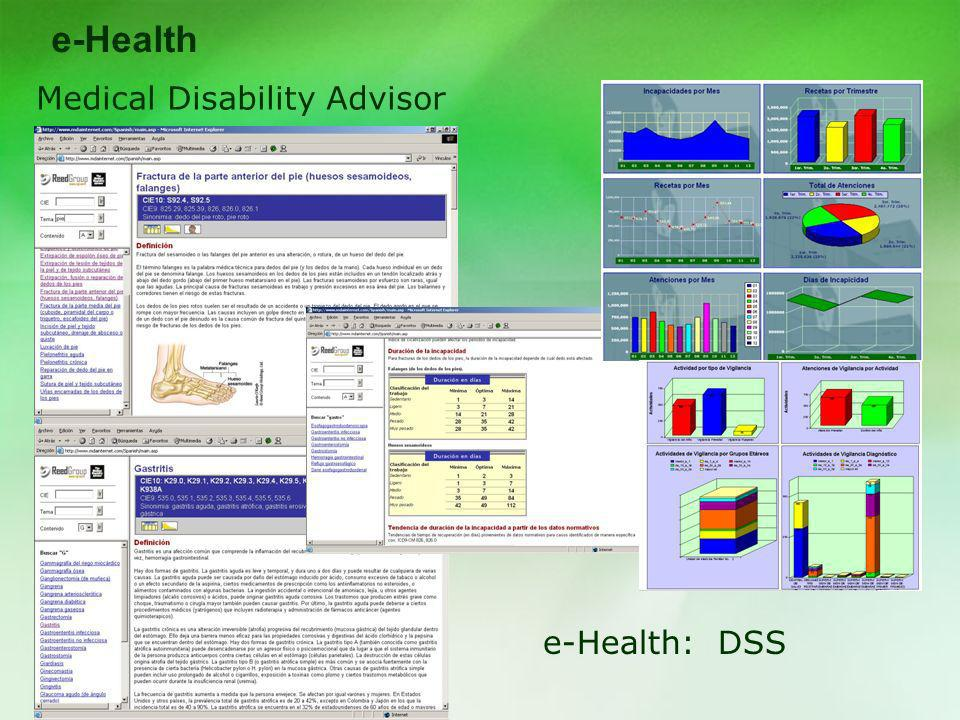 e-Health Medical Disability Advisor e-Health: DSS