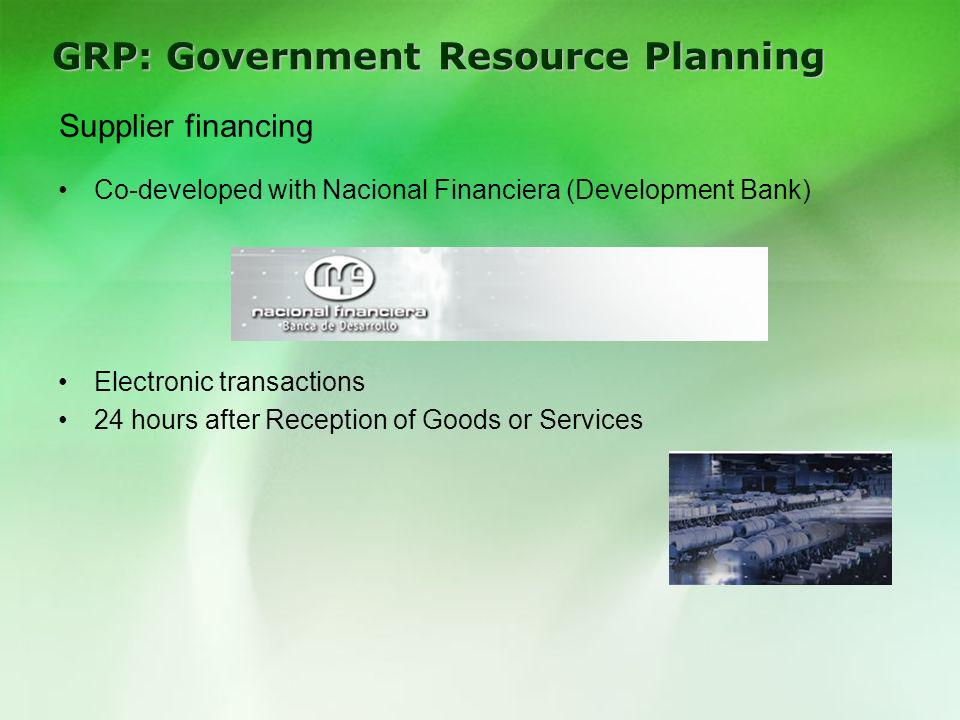 GRP: Government Resource Planning