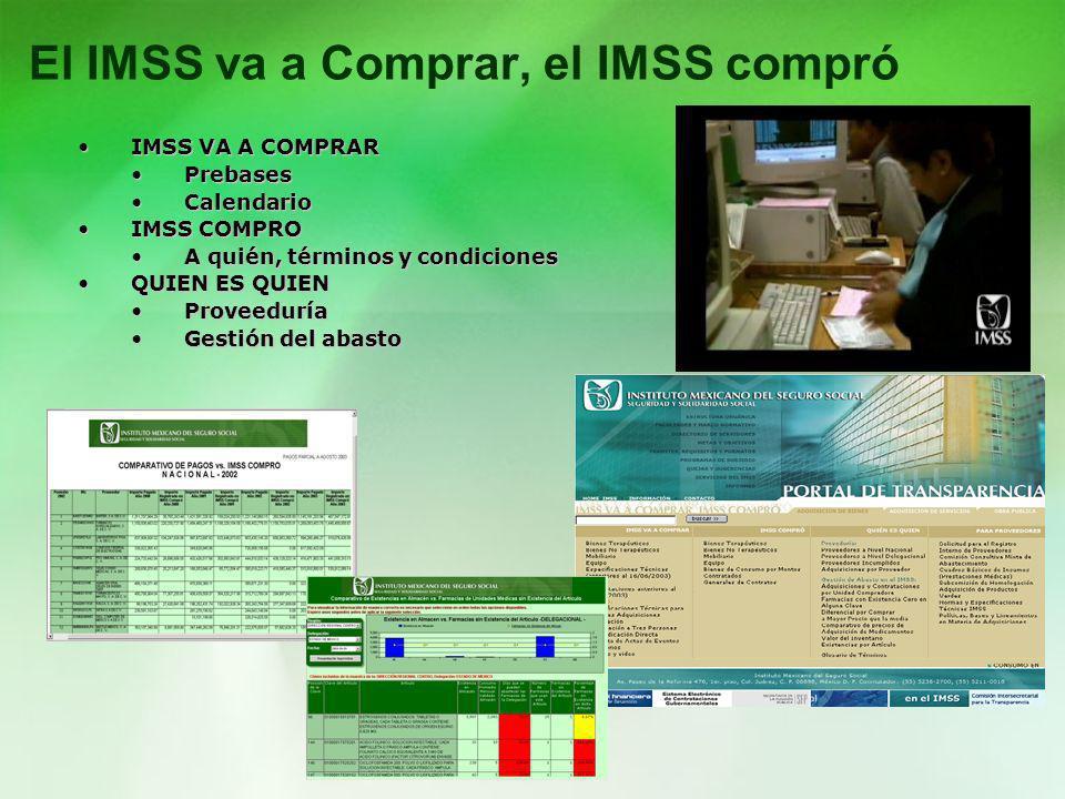 El IMSS va a Comprar, el IMSS compró