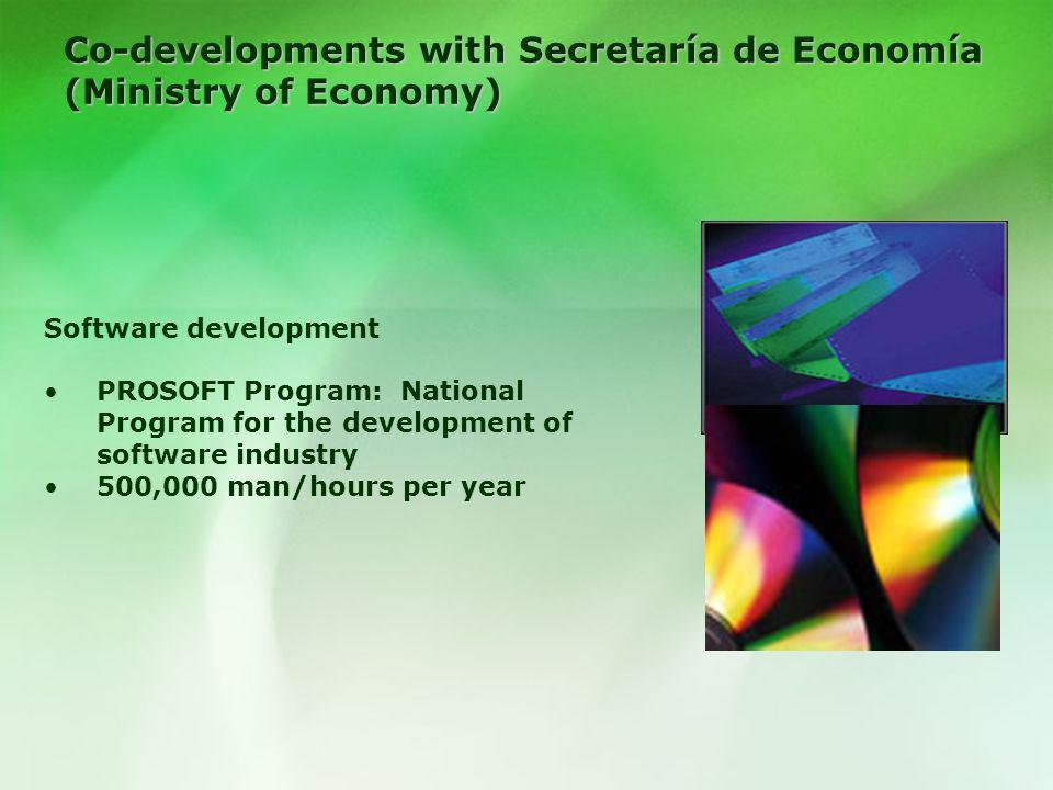 Co-developments with Secretaría de Economía (Ministry of Economy)