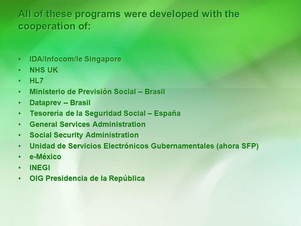 All of these programs were developed with the cooperation of: