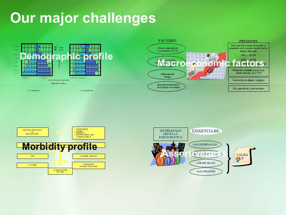 Our major challenges Demographic profile Macroeconomic factors