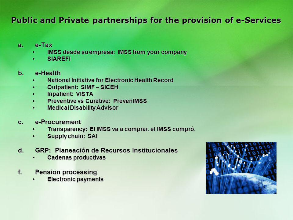 Public and Private partnerships for the provision of e-Services