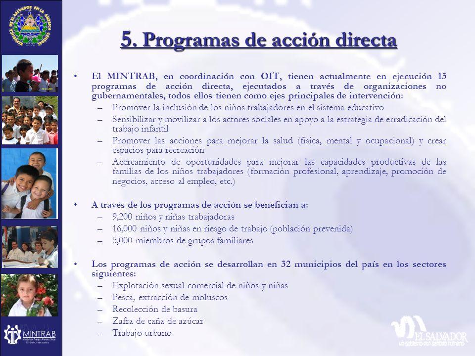 5. Programas de acción directa