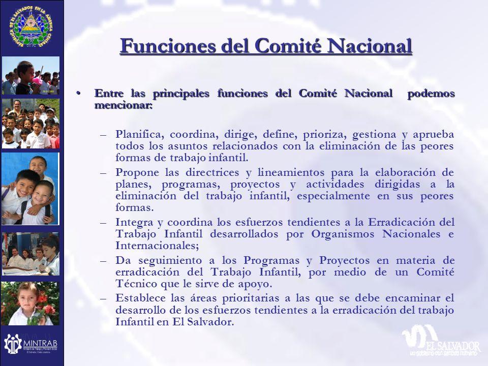 Funciones del Comité Nacional