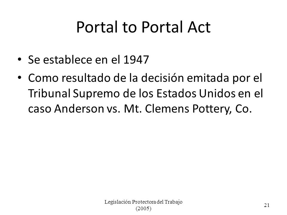 Legislación Protectora del Trabajo (2005)