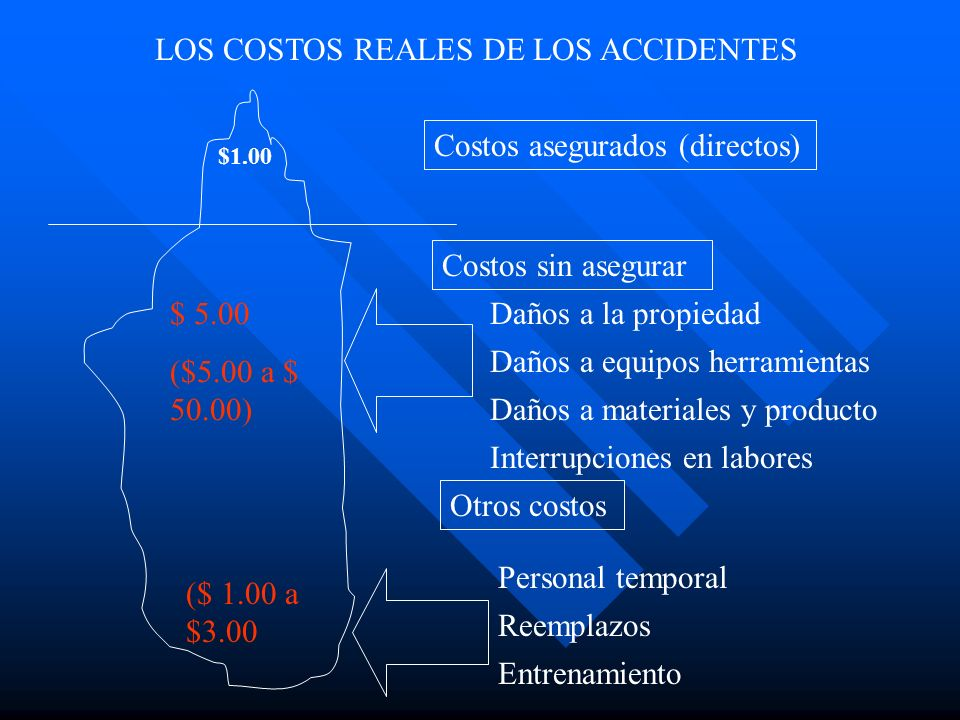 LOS COSTOS REALES DE LOS ACCIDENTES