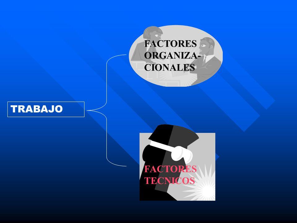 FACTORES ORGANIZA-CIONALES
