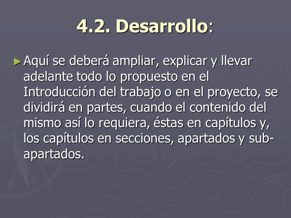 4.2. Desarrollo: