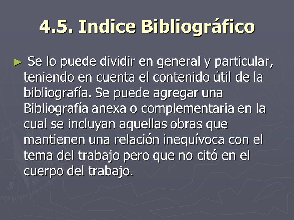 4.5. Indice Bibliográfico