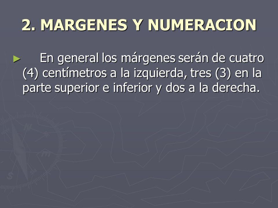 2. MARGENES Y NUMERACION