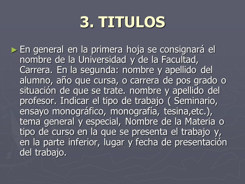 3. TITULOS