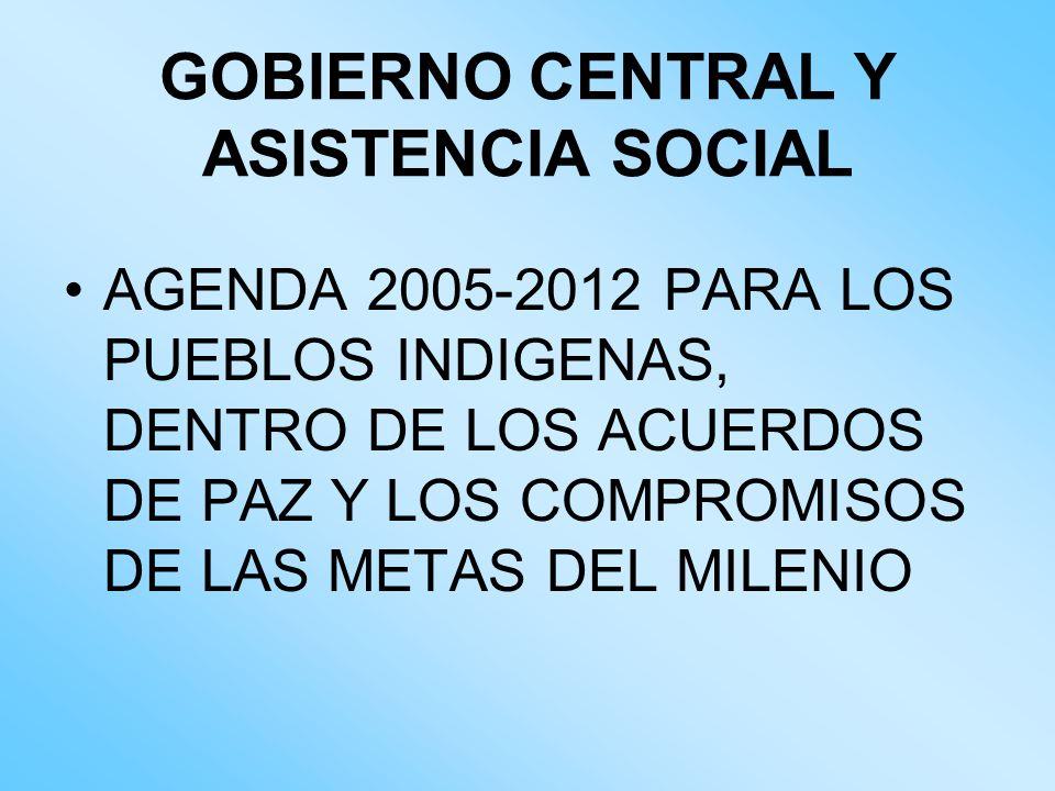 GOBIERNO CENTRAL Y ASISTENCIA SOCIAL