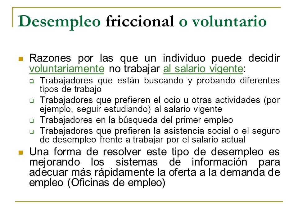 Desempleo friccional o voluntario