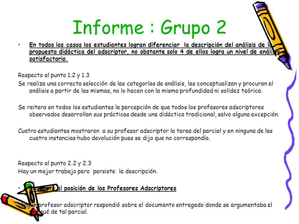 Informe : Grupo 2