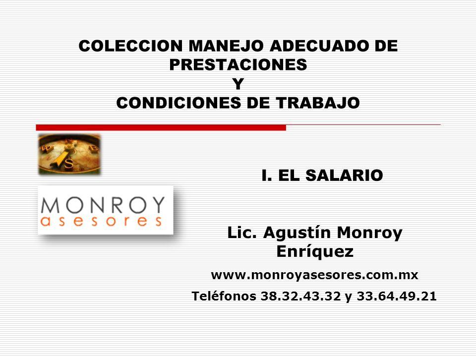 COLECCION MANEJO ADECUADO DE PRESTACIONES Y CONDICIONES DE TRABAJO