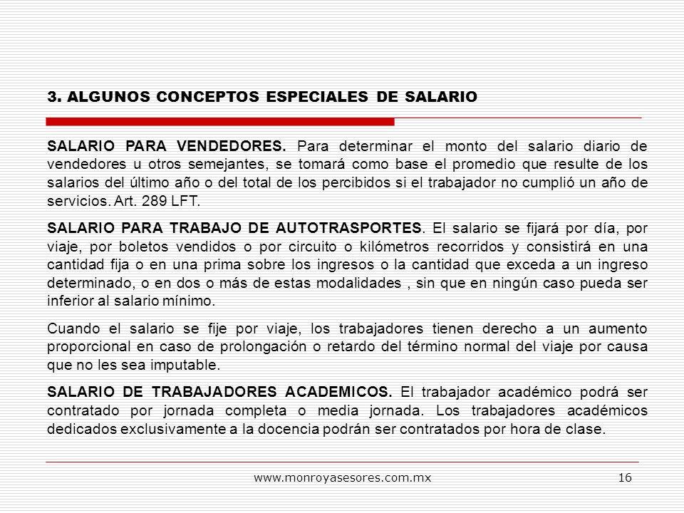3. ALGUNOS CONCEPTOS ESPECIALES DE SALARIO