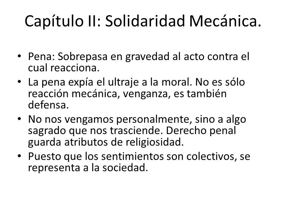 Capítulo II: Solidaridad Mecánica.