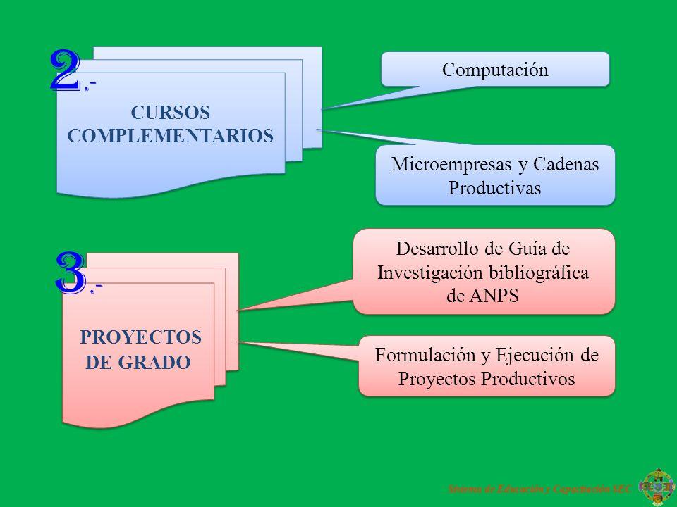 CURSOS COMPLEMENTARIOS Sistema de Educación y Capacitación SEC