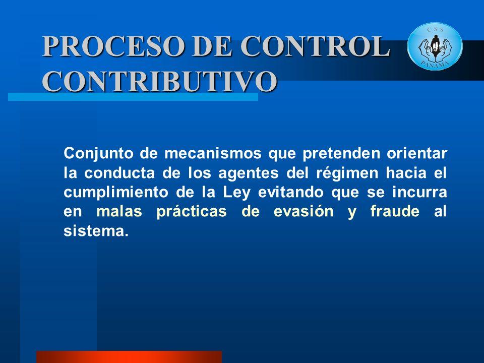 PROCESO DE CONTROL CONTRIBUTIVO
