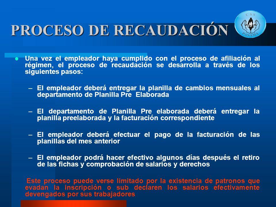 PROCESO DE RECAUDACIÓN