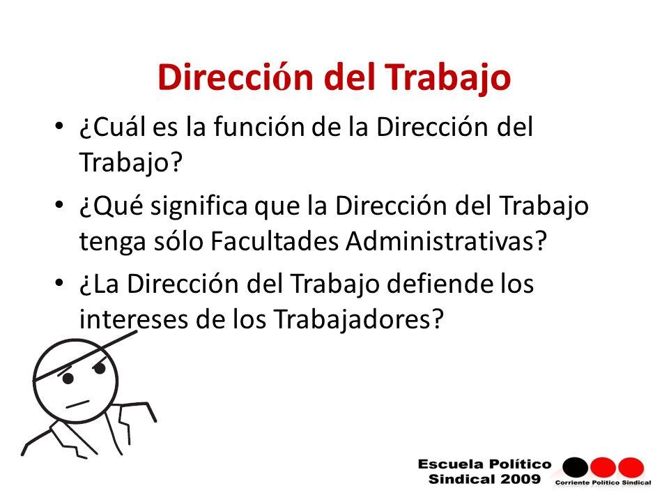 Dirección del Trabajo ¿Cuál es la función de la Dirección del Trabajo