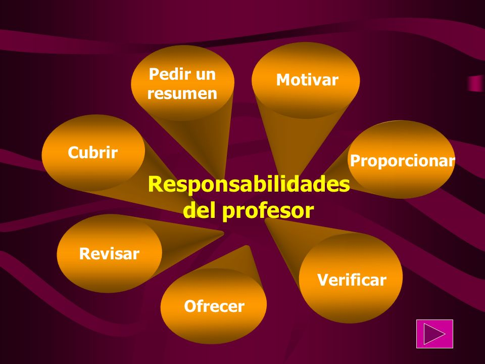 Responsabilidades del profesor