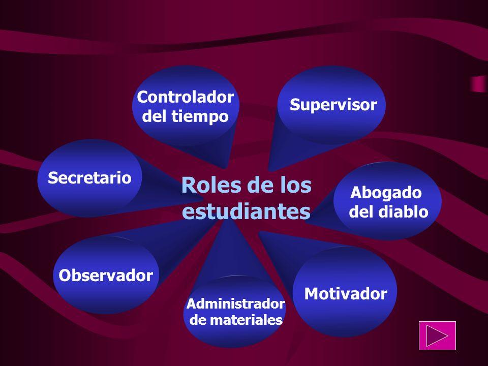 Roles de los estudiantes