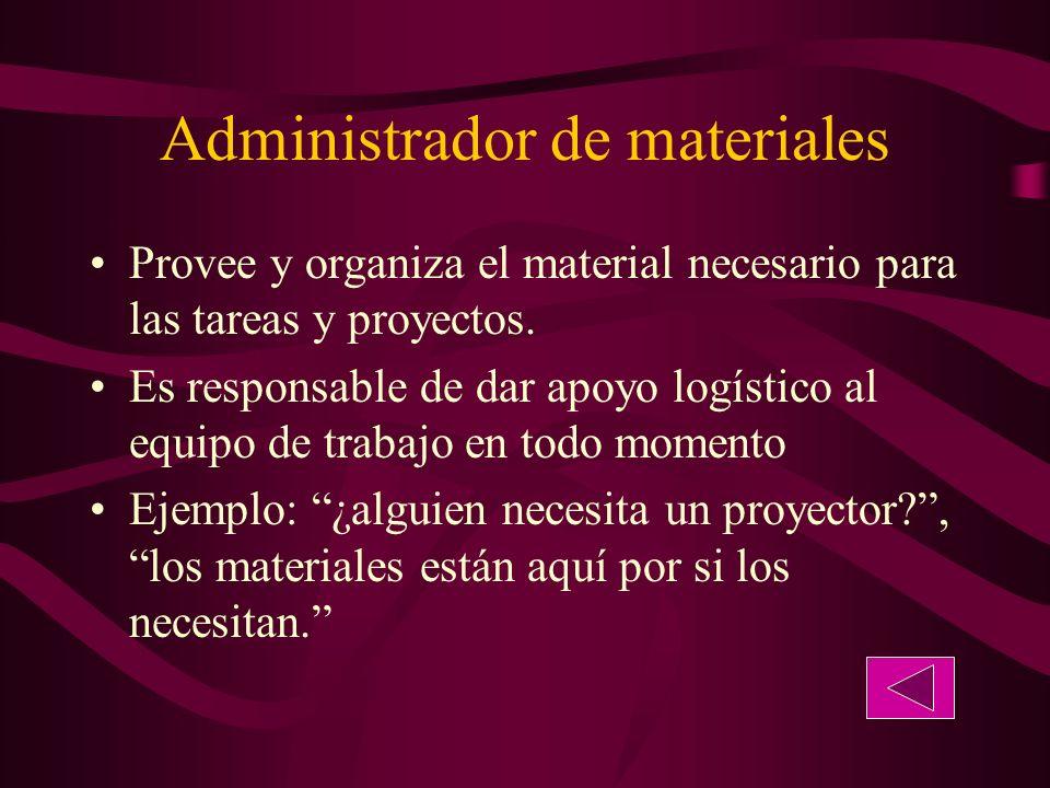 Administrador de materiales