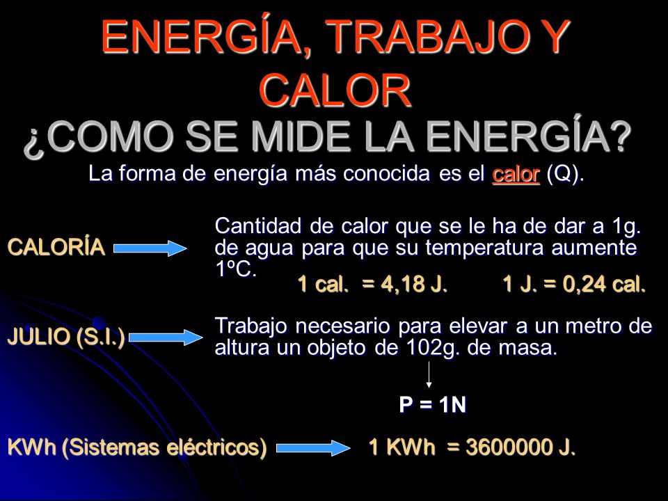 ¿COMO SE MIDE LA ENERGÍA